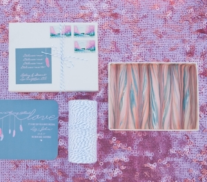 mauve plum wedding stationery