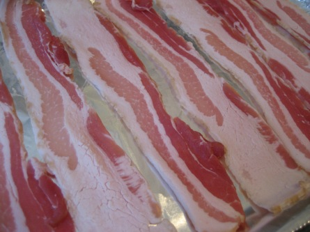 perfect bacon close up