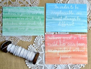 ombre notecards