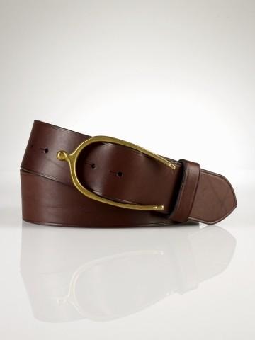 saddle leather wishbone belt