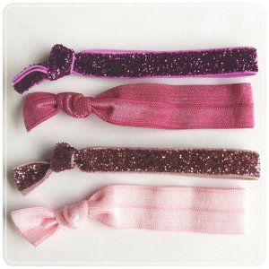 sparkly hair ties
