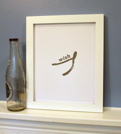 wishbone art print