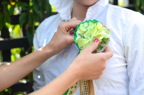 lucky charm corsage
