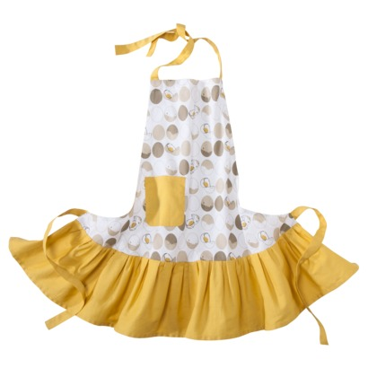 yellow ruffle apron