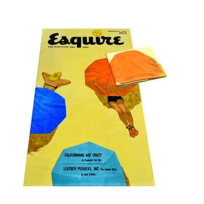 esquire beach towel